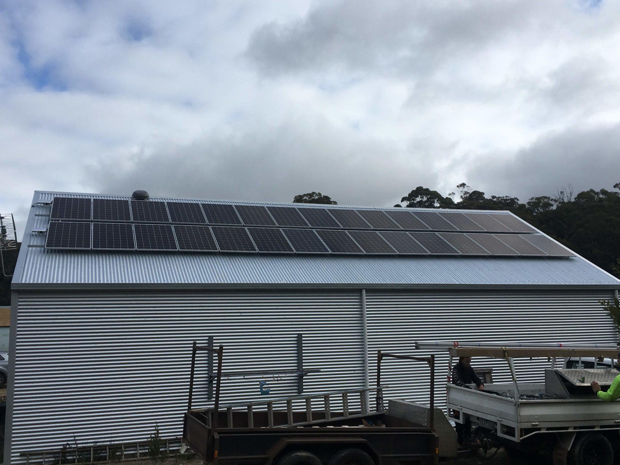 Daylesford solar install 2019